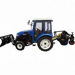 Трактор MasterYard M244 с кабиной + передний отвал + щетка задняя