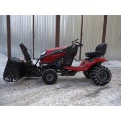 Двухцилиндровый Садовый трактор Craftsman 28928 + роторный снегоуборщик