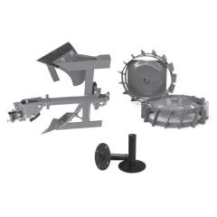 BCS R0057 Комплект плуг двухповоротный, грунтозацепы 460x160, утяжелители, сцепка, удлинители для Caiman 320, BCS 720/73