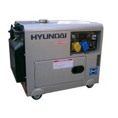 Дизельный генератор в кожухе на колесах Hyundai DHY6000SE