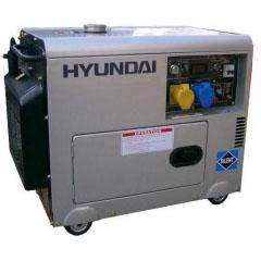 Дизельный генератор в кожухе на колесах Hyundai DHY4000SE-3