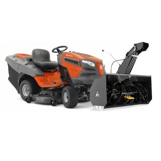 Садовый трактор Husqvarna TC 342T + снегоотбрасыватель